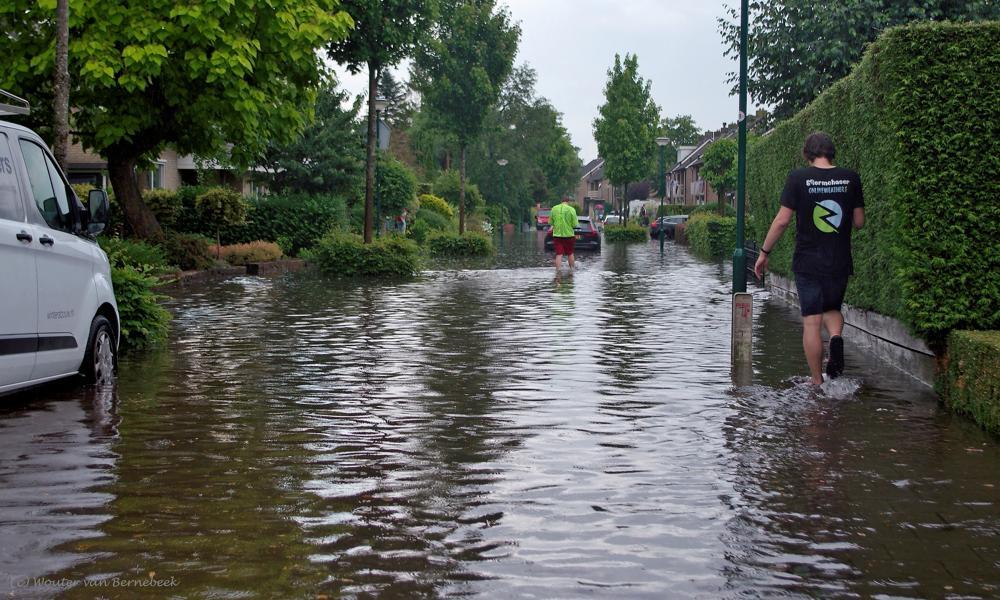 Wateroverlast 16 juni te Chaam (Wouter van Bernebeek)