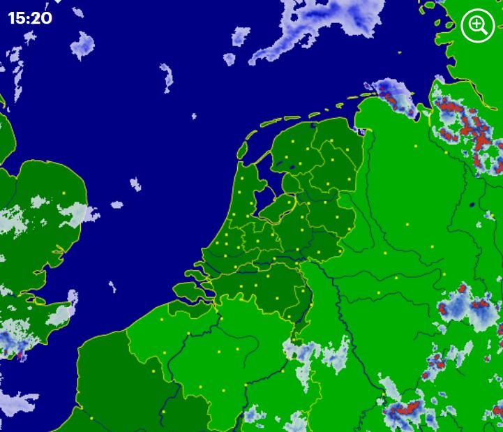 Radarbeeld woensdag 3 juni 15:20 uur
